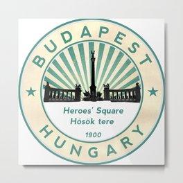 Budapest, Heroes' Square, Hosök tere, Hungary, circle Metal Print
