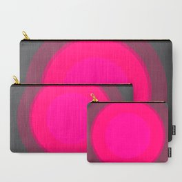 Hot Pink & Gray Focal Point Carry-All Pouch