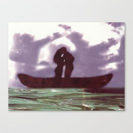 Canoe Rendezvous Canvas Print