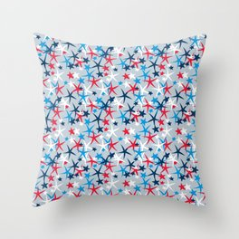 4th of July Stars Throw Pillow