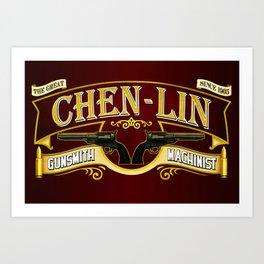 Chen Lin Gunsmith Art Print