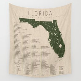 Florida Parks Wall Tapestry