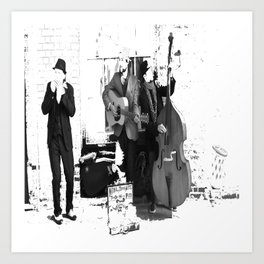 New Orleans Music in the Streets Art Print