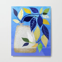 Express Yourself - Whimsical Ivy Houseplant Metal Print