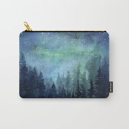 Watercolor Galaxy Nebula Northern Lights Painting Carry-All Pouch