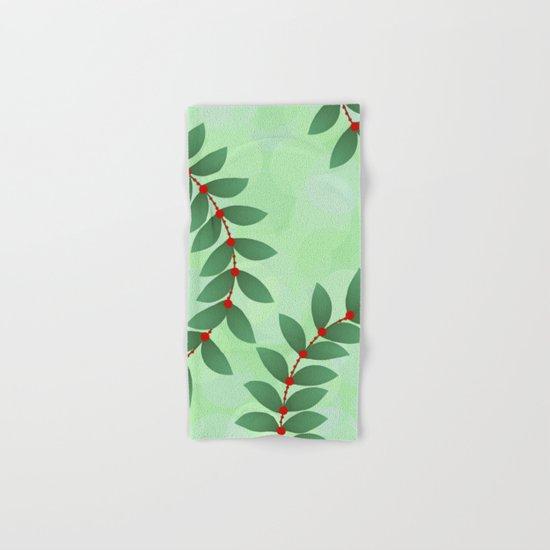 Delicate Holiday Foliage Hand & Bath Towel
