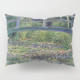 Water Lilies and the Japanese Bridge by Claude Monet Pillow Sham