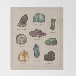Gems and Minerals Throw Blanket