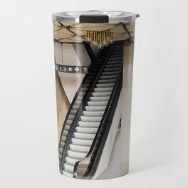 Vintage interior brutalist architecture Travel Mug