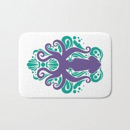 Damask Squid Aqua Violet Bath Mat