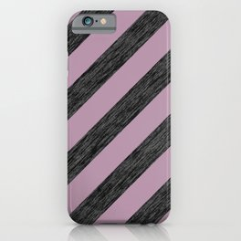 Dusty Pink and Silver Glitter Stripes iPhone Case