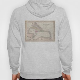 Vintage Map of The Caribbean (1857) Hoody
