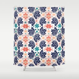 The Pysanky Easter eggs colorful pattern Shower Curtain