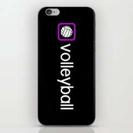 Volleyball (Purple) iPhone Skin