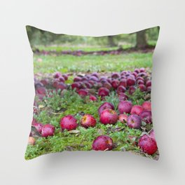 Let's pick apples Throw Pillow