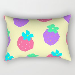 Words for a Lovely Couple from Colorful Strawberries - strawberry illustration fruit pattern Rectangular Pillow