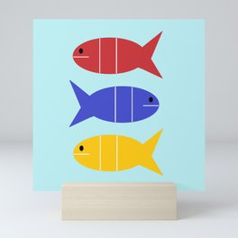Tres Fishes Mini Art Print