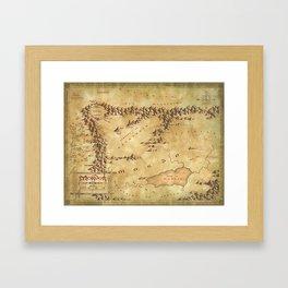Map.of.Mordor Framed Art Print