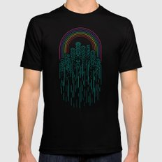 Neon City Mens Fitted Tee Black MEDIUM