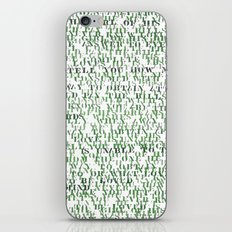 Sentences of Love Green iPhone & iPod Skin