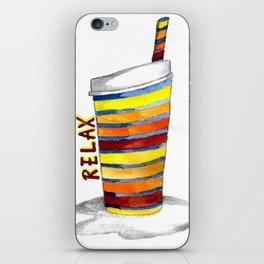 Relax Watercolor Tumbler iPhone Skin