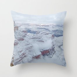 Winter and Snow at the Grand Canyon Throw Pillow
