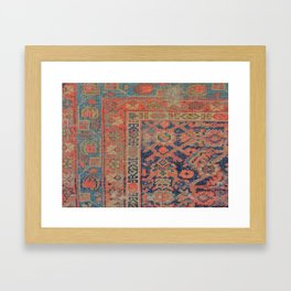 Traditional Antique Rug Framed Art Print