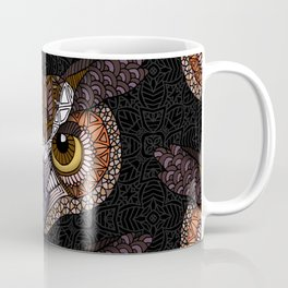 Great Horned Owl Head Coffee Mug