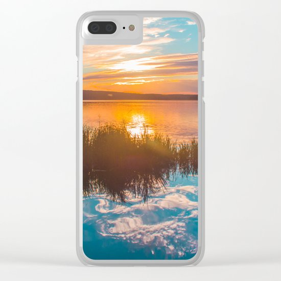 River sunset Clear iPhone Case