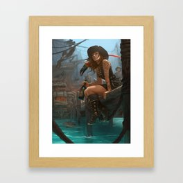 Pirate Haven Tortuga Framed Art Print