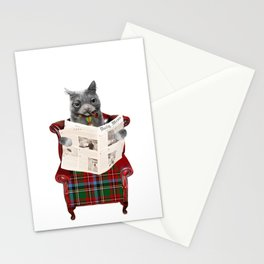 General Fluffykins Reading the Mews Stationery Cards