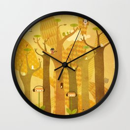 Musical Trees Wall Clock