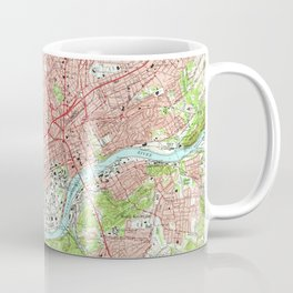 Vintage Map of Knoxville Tennessee (1966) Coffee Mug