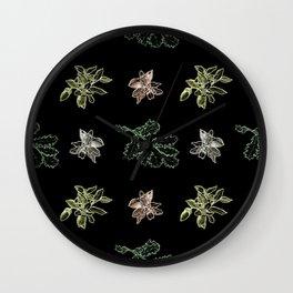 Quercus (black) Wall Clock