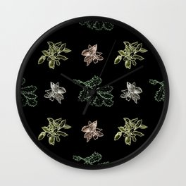 Quercus (black) Wall Clock
