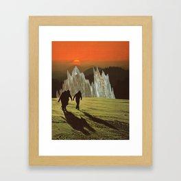 Friends at Sunset Framed Art Print