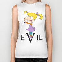 evil Biker Tanks featuring eVil by #MadeByTylord