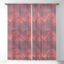 Swirl Sunset Sheer Curtain