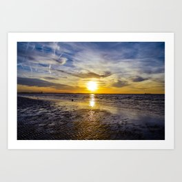 cape charles sunset Art Print