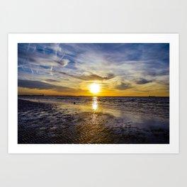 cape charles sunset Art Print