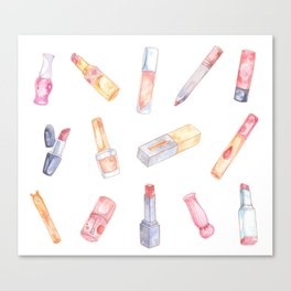 Color Of Your Lips - Makeup Canvas Print
