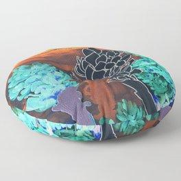 DESERT NIGHT Alpinia Purpurata Floor Pillow