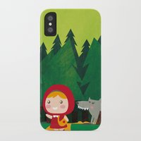 red hood iPhone & iPod Cases featuring Little Red Riding Hood by parisian samurai studio