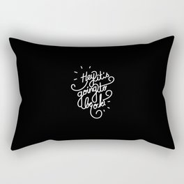 Hey it's going to be o.k.   [black & white] Rectangular Pillow