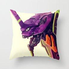 Eva 01 Throw Pillow