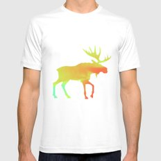 Moose Mens Fitted Tee MEDIUM White