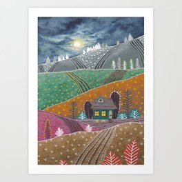 Midnight landscape IV Art Print