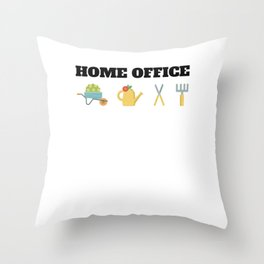 Workplace Plants Botanical Flowers  Throw Pillow