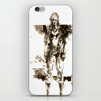 metal gear iPhone & iPod Skins featuring Metal Gear Solid wolf by Hisham Al Riyami