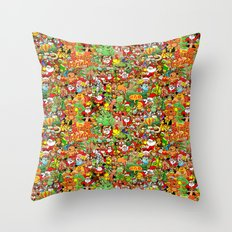 In Christmas melt into the crowd and enjoy it Throw Pillow